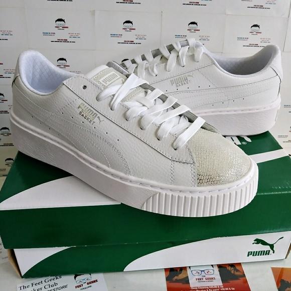 Puma Basket Platform Glitz Womens Shoes